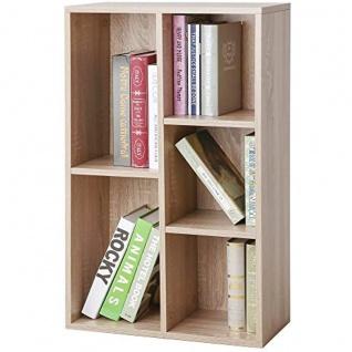 Nancys Gardinski Boekenkast - Lagerschrank mit 5 Fächern - Schränke - Holz - 50 x 24 x 80 cm