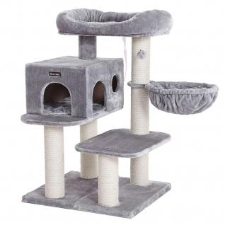 Nancys Cat Tower - Einstellbare Boom Katzen - Katzen-Haus - Kratzbaum - grau - 70 x 60 x 112 cm