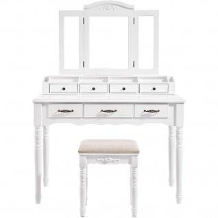 Nancys Willowbrook Luxury Linnebel Kommode mit Spiegel - Make-up Tabelle für Frauen - Dressing