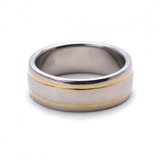 ClassicTitanium Ring mit14 Karat Gold Inlay