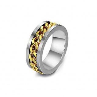 """"""" In Ketten"""" Titanium Ring im Ketten Design"""
