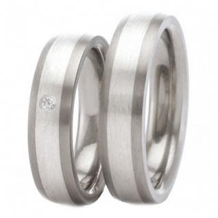 Classic Titanium Ring mit 925 Silber Inlay