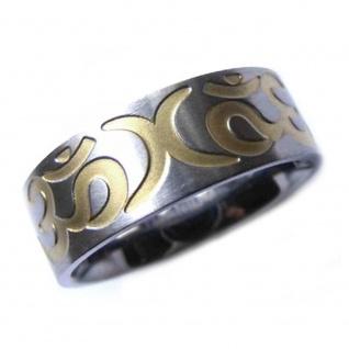""" OM"" Titan Ring im Tattoo Design"