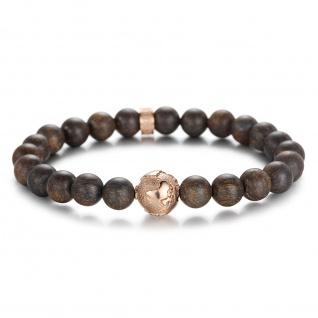 """"""" PLANET EARTH"""" Titan Erdkugel Beads Armband mit Bronzite Steinen"""
