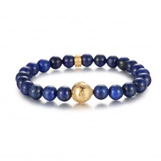 """ PLANET EARTH"" Titan Erdkugel Beads Armband mit Lapiz Steinen"