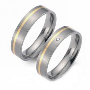 ClassicTitanium Ring mit 14 Karat Gold Inlay