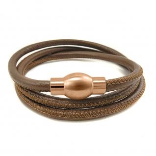 BASIC Classic Design Wickelarmband mit Nappa Leder