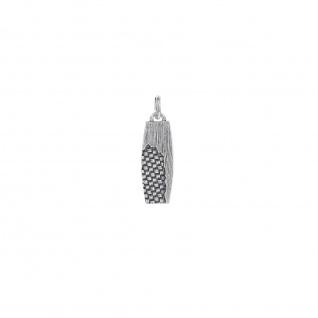 """ WOVEN"" Anhänger, 925 Sterling Silber im verwobenen Rattan Design"