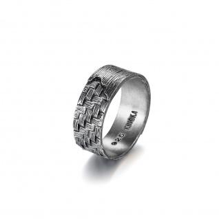 """ WOVEN"" Ring, 925 Sterling Silber im verwobenen Rattan Design"