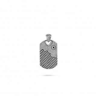 """"""" WOVEN"""" Anhänger mit Diamant, 925 Sterling Silber im verwobenen Rattan Design"""