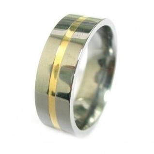 """"""" Tungsten Eternity"""" Klassischer BiColorWolfram Ring mit 18 Karat Goldeinlage"""