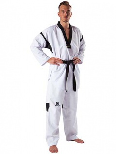 Taekwondo Anzug Revolution Black Mesh WT anerkannt - Größe 150 cm