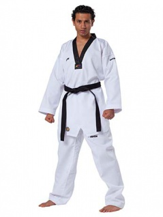 Taekwondo Anzug Victory schwarzem Revers, WT anerkannt