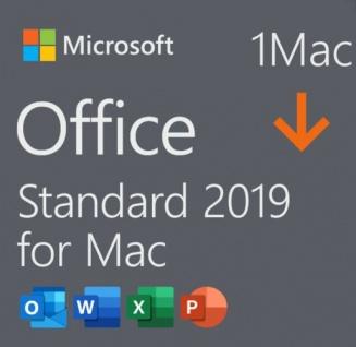 Microsoft Office 2019 Standard | Kein Abo | 1 MAC