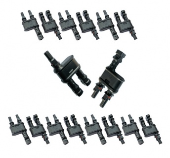 8x Paar SC4 Stecker 2-1 Y Solarstecker Buchse Connector UV beständig H4 Amphenol