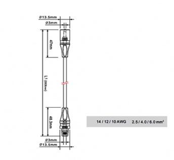 MC3 Stecker Paar Solarstecker Buchse Connector UV beständig Steckverbinder NEU - Vorschau 4