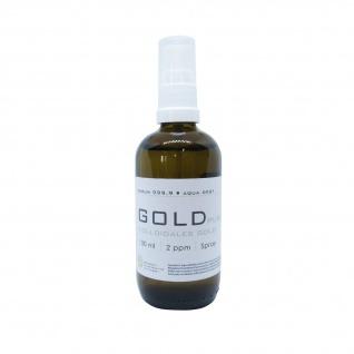 Kolloidales Gold 100ml | 2ppm als Spray Sprühflasche Braunglas GOLDpurity