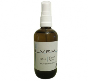 Kolloidales Silber 100ml | 50ppm als Spray Sprühflasche Braunglas SILVERpurity