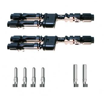 2x SC4 Verteilerset MM/F Y Stecker SC4 Stecker Solar Connector 4mm² UV beständig