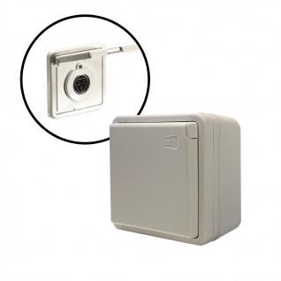 Aufputzsteckdose inkl. Buchse für Geräteanschluss dreipolig 250V RST20I3 Wieland