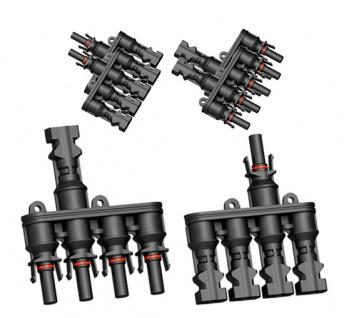 3x Paar SC4 Verzweigungsstecker 4-1 T Solarstecker Buchse Connector UV best. H4