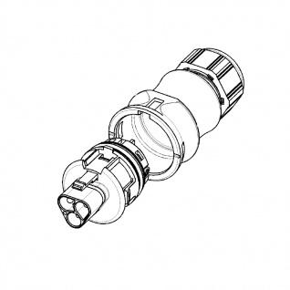 Stecker Male dreiadrig Wieland RST 20i3 signalbraun DMX Steckverbindung 120V 20A - Vorschau 2
