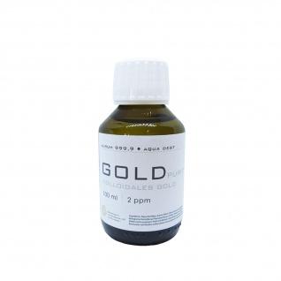 Kolloidales Gold 100ml | 2ppm Flasche Braunglas Originalitätsverschluss pure