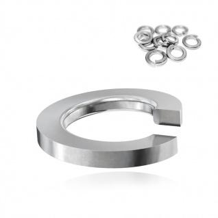 200x Federring M8 Edelstahl A2 V2A DIN 127B 1.4310 Unterlegscheiben spiralförmig Bau