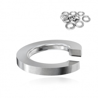 500x Federring M16 Edelstahl A2 V2A DIN 127B 1.4310 Unterlegscheiben spiralförmig Bau