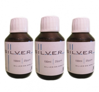 Kolloidales Silber 3x 100ml | 25ppm in Braunglasflasche m. Originalitätsv.