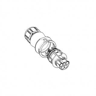 Buchse Female + Stecker Male fünfpolig Wieland RST 20i5 signalbraun DMX - Vorschau 4