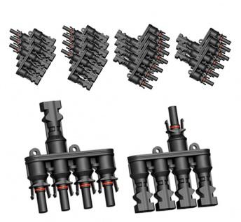 8x Paar SC4 Verzweigungsstecker 4-1 T Solarstecker Buchse Connector UV best. H4