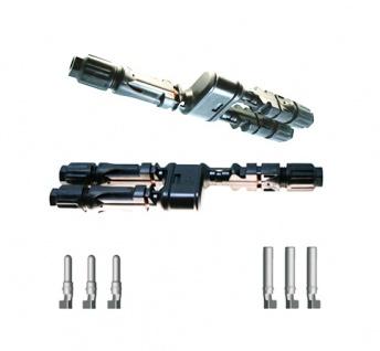 Verteilerset MM/F + FF/M Y Stecker SC4 Stecker Solar Connector 4mm² UV beständig