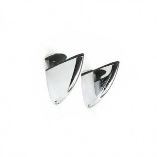 2x Regalhalter 3 - 28 mm Regalträger Regalboden Stütze Glas Acrylglas halbrund