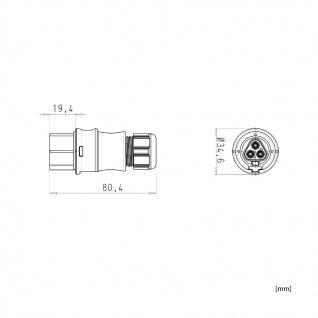 Buchse Female dreiadrig Wieland RST 20i3 signalbraun DMX Steckverbindung Verschaltung - Vorschau 3
