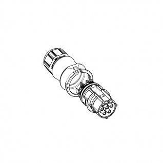 Buchse Female + Stecker Male fünfpolig Wieland RST 20i5 signalbraun DMX - Vorschau 2