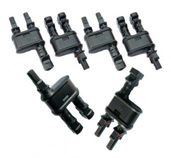 3x Paar SC4 Y Stecker 2-1 Solarstecker Buchse Connector UV beständig H4 Amphen