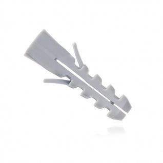 1000x Spreizdübel/Allzweckdübel 10mm ohne Kragen 10x50 grau, für Schrauben 6-8mm