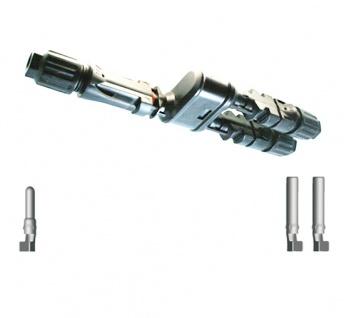 SC4 Verteilerset FF/M Y Stecker SC4 Stecker Solar Connector 4mm² UV beständig