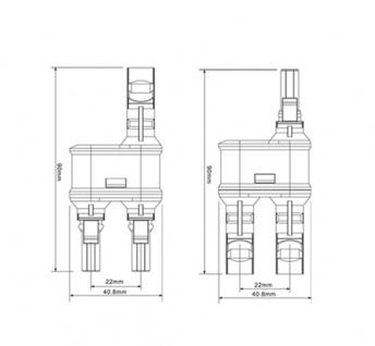 SC4 Stecker 2-1 mit Adaptoren für Verlängerung 213cm Stecker Connector Solar - Vorschau 5