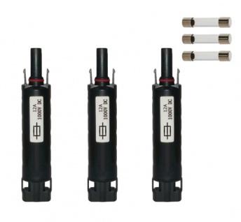 3x Sicherungsstecker SC4 kompatibel 12A H4 Solarstecker Connector UV beständig