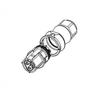 Buchse Female dreiadrig Wieland RST 20i3 signalbraun DMX Steckverbindung Verschaltung - Vorschau 2