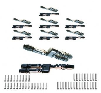 8x SC4 Verteilerset MMF+FFM Y Stecker SC4 Stecker Solar Connector 4mm² UV best.