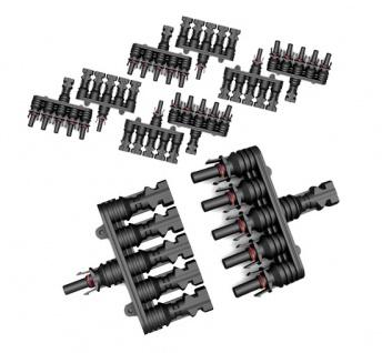 5x Paar SC4 Verzweigungsstecker 5-1 T Solarstecker Buchse Connector UV best. H4