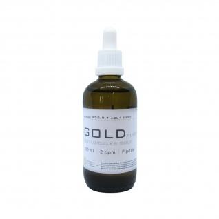 Kolloidales Gold 100ml | 2ppm mit Pipette Pipettenflasche Aurum Braunglas pure