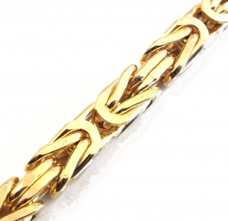 Königskette vergoldet 8mm Halskette Herren Männer