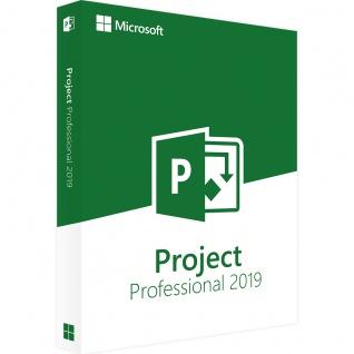 Microsoft Project 2019 Professional Vollversion MS Pro 32/64Bit Multilanguage