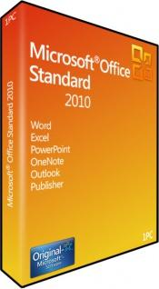 Microsoft Office 2010 Standard Vollversion MS 32/64Bit