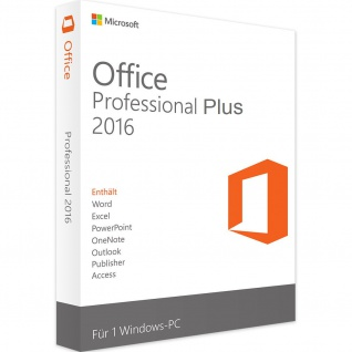 Microsoft Office 2016 Professional PLUS Vollversion MS Pro 32/64Bit ESD