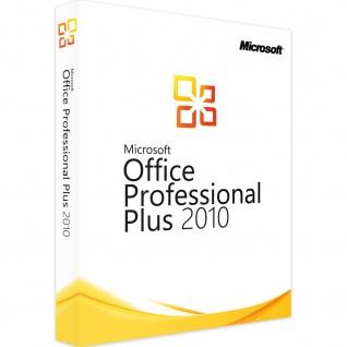 Microsoft Office 2010 Professional PLUS Vollversion MS Pro 32/64Bit ESD